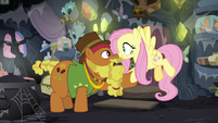 """Fluttershy """"you're related to Mage Meadowbrook?"""" S7E20"""