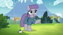 Maud Pie telling Pinkie Pie to wait S8E3