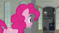 Pinkie Pie sees the factory doors open S9E14