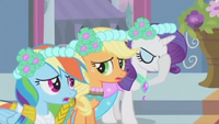 Rainbow Applejack and Rarity bridesmaids S2E26