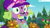 Spike covered in flower petals and snot CYOE14b