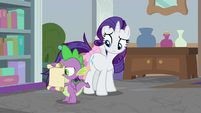 Spike reading the arrived scroll S8E25