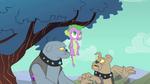 Spike stuck in tree S01E19