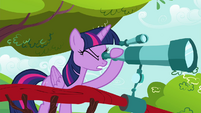 Twilight looks into the telescope S4E26