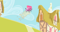 Baby carriage flying down a hill S2E8