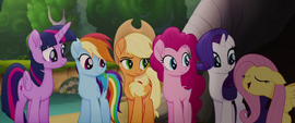 """Fluttershy adding an eager """"yay"""" MLPTM"""