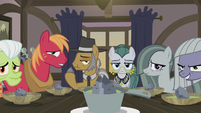 Igneous and Cloudy staring at Applejack S5E20