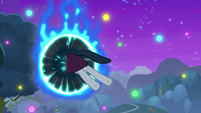 Neighsay jumps through portal in space S8E26