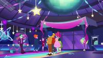 Party guests gather around Rosette Nebula EGDS38