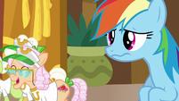 Rainbow Dash looking a little grossed out S8E5