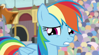 Rainbow Dash looking nervous S9E6