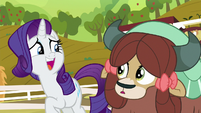 Rarity lightly laughs at Yona's expense S9E7