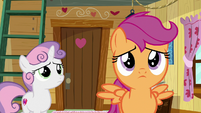 Scootaloo looking at the wall of ponies S9E12