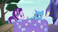 Trixie looks embarrassed at Starlight S8E19