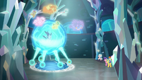 Young Six glowing above Cozy Glow S8E26