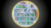 Discord's ghost appears in the library S8E15