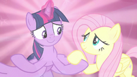 Fluttershy joins hooves with Twilight S9E2