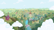 Ponyville in the opening theme