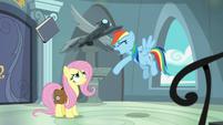 Rainbow Dash tosses Fallen Idol book S9E21