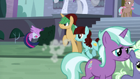 Twilight drags Spike into the bushes S9E5