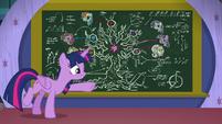 Twilight points at Tree of Harmony's roots S8E22