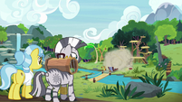 Zecora and Dr. Fauna witness the chaos S9E18