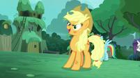 --Applejack-- says Zecora's name S5E26
