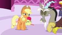 Apple Bloom blows raspberry at Discord S5E7