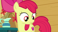 Apple Bloom staring at her cutie mark S6E4