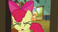 Applejack sees Apple Bloom run away S5E17