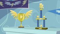 Rainbow Dash's Wonderbolts trophies S5E3