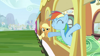 Rainbow Dash at the window S2E25