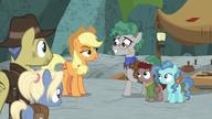 S07E25 Kucyki dziękują Applejack za ocalenie