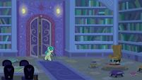 Sandbar enters the library at night S8E25