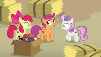 Scootaloo -you saw how shifty he was acting- S7E8