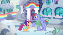 Scootaloo excited to meet Bow Hothoof S7E7