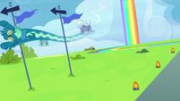 Sky Stinger swerves around flagpoles S6E24