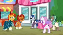 Stellar Flare approves of Sleek Pony's performance S8E8