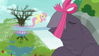 Tortoise-Snap letting go of Spike and tree S9E13