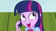 Twilight blushing when Flash Sentry is mentioned EG2