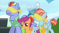 Windy compliments Scootaloo's blindfolding S7E7