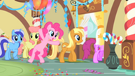 201px-Pinkie Pie leaving with the other ponies S1E22