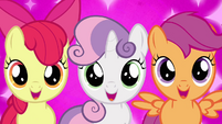 """Cutie Mark Crusaders excited """"Crystal Empire?!"""" S03E11"""