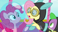 """Fluttershy """"not actually going into space"""" S9E4"""