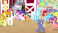 Ponies partying at Sweet Apple Acres S8E18
