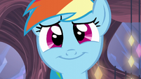 Rainbow Dash's comforting smile S5E19