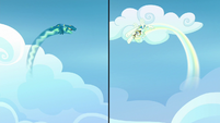 Sky Stinger and Vapor Trail looping through the air S6E24
