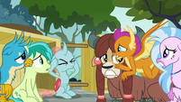 Smolder looking to Ocellus for a solution S8E2