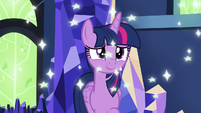 Twilight Sparkle surrounded by glitter S7E26