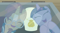 Twilight and Sunburst laugh at the antiques S7E24
